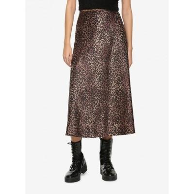 ノーブランド no brand レディース ひざ丈スカート スカート Leopard Print Midi Skirt