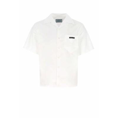 プラダ メンズ シャツ トップス Prada Poplin Short-Sleeve Shirt -