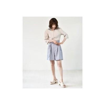 レトロガール RETRO GIRL ベルト付きショートパンツ (Lブルー)