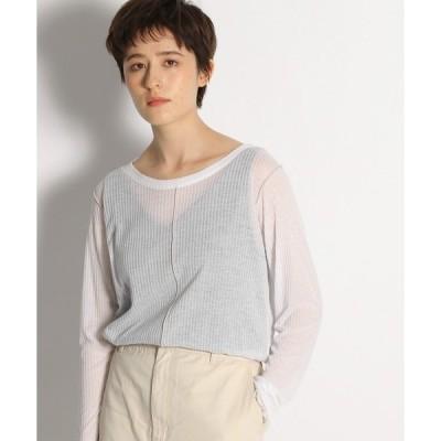 tシャツ Tシャツ タンクトップ付きテレコシースループルオーバー