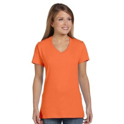 レディース 衣類 トップス Hanes Women's Lightweight Classic Fit V-neck T-Shirt Tシャツ