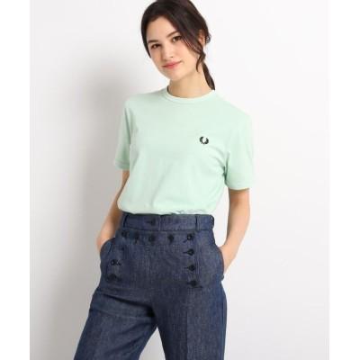 【デッサン】 FRED PERRY リンガーTシャツ レディース ライト グリーン 02(M) Dessin