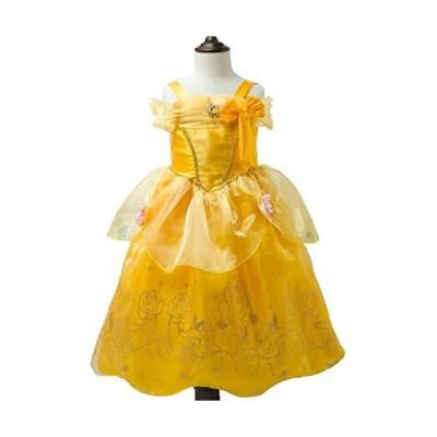 美女と野獣 風 キッズ コスプレ衣装 プリンセス 子供ドレス ワンピース 女の子 イエロー (120cm)