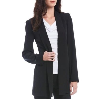 カルバンクライン レディース ジャケット&ブルゾン アウター Soft Suiting Stretch Open-Front Jacket Black