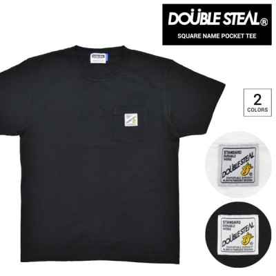 DOUBLE STEAL ダブルスティール Tシャツ SQUARE NAME POCKET T-SHIRT TEE カットソー トップス 903-14043 単品購入の場合はネコポス便発送