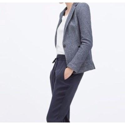 Blazer ブレザー ファッション 衣類 Rare XS_NWT ZARA NAVY BLUE ONE-BUTTON PLUSH BLAZER Jacket Coat 2107/236