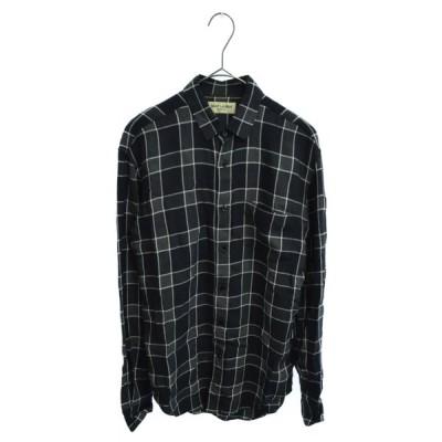 サンローランパリ 16SS ダメージ加工チェックシャツ