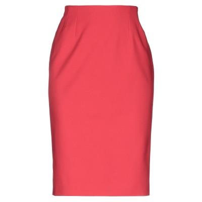 CLIPS MORE ひざ丈スカート レッド 42 コットン 48% / ポリエステル 48% / ポリウレタン 4% ひざ丈スカート
