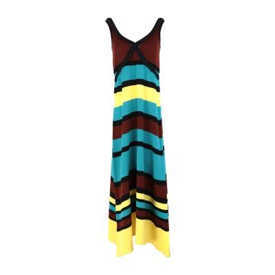AKEP ロングワンピース&ドレス ターコイズブルー 38 コットン 100% ロングワンピース&ドレス