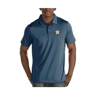 ユニセックス スポーツリーグ メジャーリーグ Houston Astros Antigua Quest Desert Dry Polo - Navy Tシャツ