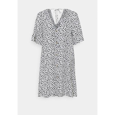 エブンアンドオッド ワンピース レディース トップス Day dress - white/black