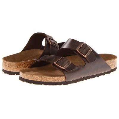 ビルケンシュトック サンダル レディース Arizona Soft Footbed - Leather (Unisex) Brown Amalfi Leather