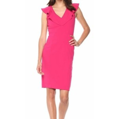 Rachel Roy レイチェルロイ ファッション ドレス RACHEL Rachel Roy NEW Pink Womens Size 6 Ruffle V-Neck Sheath Dress