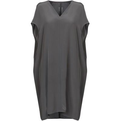 リック オウエンス RICK OWENS ミニワンピース&ドレス 鉛色 46 シルク 100% ミニワンピース&ドレス