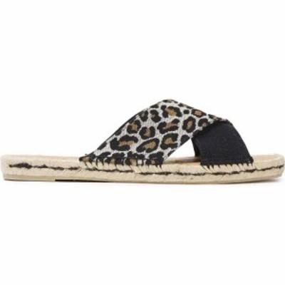 カスタニエール CASTANER レディース エスパドリーユ シューズ・靴 paloma leopard-print jacquard and canvas espadrille slides Black