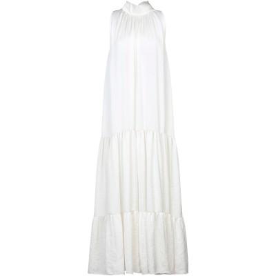 OLLA PARÉG ロングワンピース&ドレス アイボリー 40 ポリエステル 100% ロングワンピース&ドレス