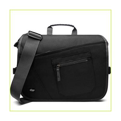 Qipi Messenger Bag - Pocket Rich Satchel Shoulder Bag for Men & Women - with 15.6 inch Laptop Compartment (Black)【並行輸入品】