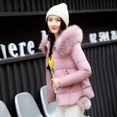 ダウンジャケット レディース キルティングコート ファーフード ジップアップ ブルゾン アウター ショート丈 きれいめ 防風 防寒 厚手 暖かい 冬服