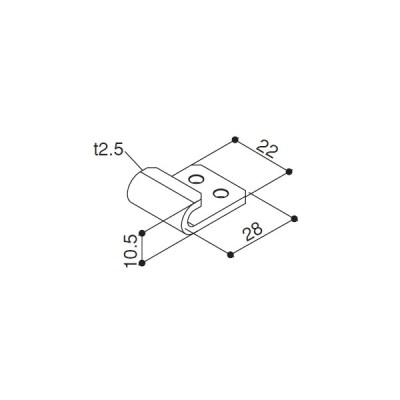 メッシュパネルホルダーA(HHK1-6295) YKK テラス テラス屋根 アルミテラス アルミ屋根 PTC YKKテラス屋根