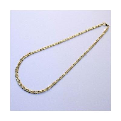 純金 ネックレス リーフ リバーシブル 42cm ゴールド K24 刻印