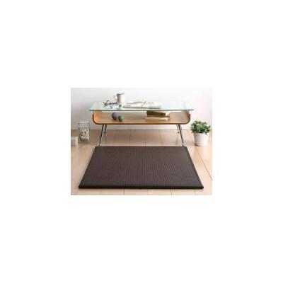 タイルカーペット ジョイント ラグ 撥水 拭ける 絨毯 厚手 ダイニング マット 夏 1畳 1枚 正方形 82×82 アジアン 日本製 北欧 モダン 防音