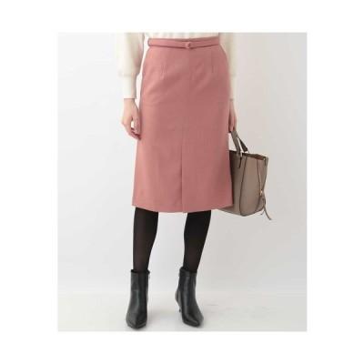 OFUON / 【洗濯機で洗える】ベルト付きナロースカート
