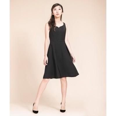 ドレス ハートカットブラックワンピース