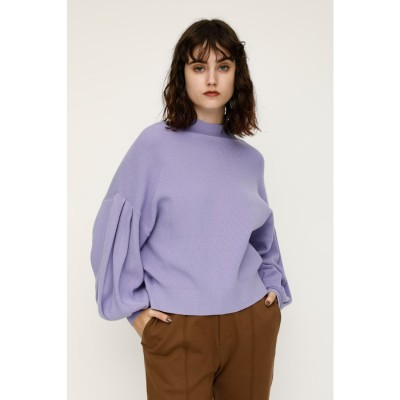 MOCK NECK MG OVER TOPS L/PUR1