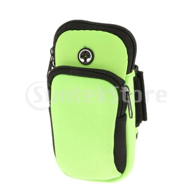 スポーツアームバッグ防水携帯電話ホルダージムウエストバンドグリーン