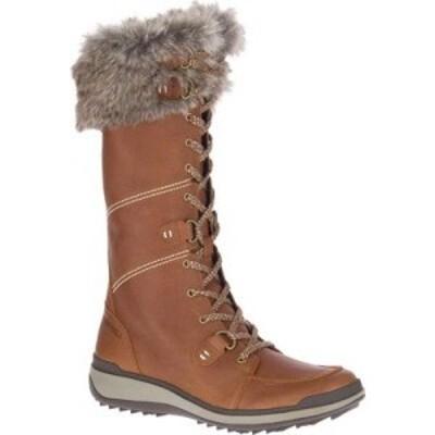 メレル Merrell レディース ブーツ シューズ・靴 Snowcreek Tall Polar Waterproof Boot Oak Waterproof Full Grain Leather