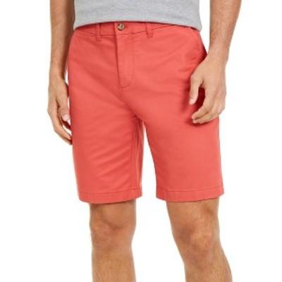 """トミー ヒルフィガー メンズ カジュアルパンツ ボトムス Men's  TH Flex Stretch 9"""" Shorts, Created for Macy's Cranberry"""