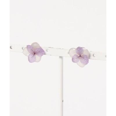 ピアス 【よひらのはな】紫陽花の2色ピアス