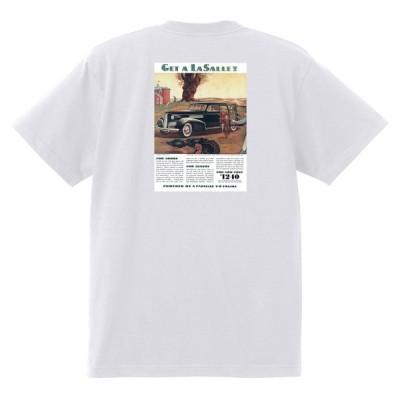 アドバタイジング キャデラックTシャツ 121 白 1939 オールディーズ ロックンロール 1950's1960's ロカビリー ローライダー