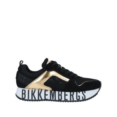 ビッケンバーグ BIKKEMBERGS スニーカー&テニスシューズ(ローカット) ブラック 41 革 / 紡績繊維 スニーカー&テニスシューズ(ロー