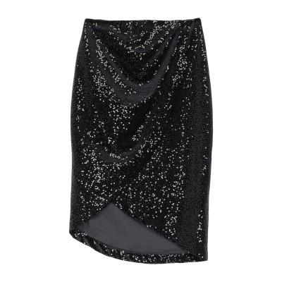 アンナリータ エンネ ANNARITA N ひざ丈スカート ブラック 42 ポリエステル 95% / ポリウレタン 5% ひざ丈スカート