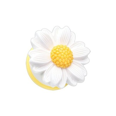 White Cutesy Daisy Flower Single Flared PlugsSold as Pairs (2G)