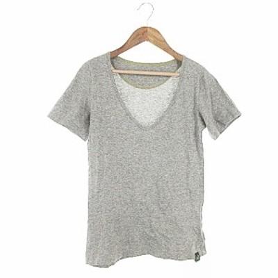 【中古】アールエヌエー RNA Tシャツ カットソー 半袖 Vネック M グレー /AAM8 レディース