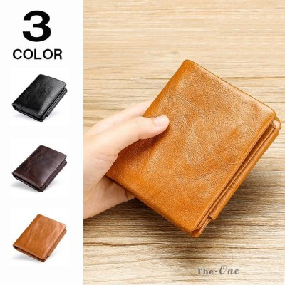 三つ折り財布 メンズ 財布 牛革 革 レザー 大容量 カード入れ コインケース 使いやすい ギフト おしゃれ