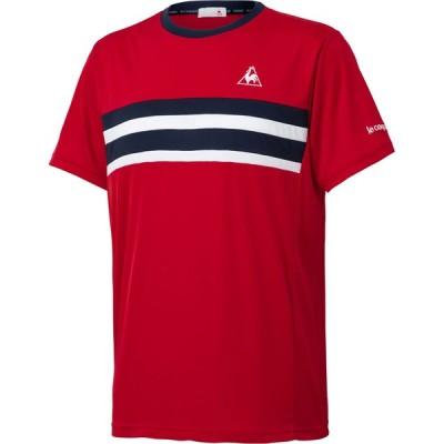 le coq sportif(ルコック) 半袖シャツ 男女兼用 ユニセックス テニスウェア ITF・JTA承認 レッド