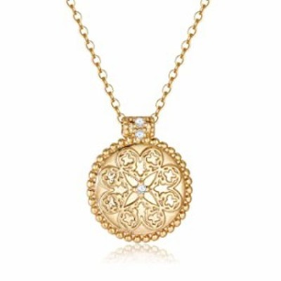 Obidos Gold Coin Necklace for Women | Gold Necklaces for Women | 14k Gold Plated Vintage Textured Medallion Round Circle Disk Da