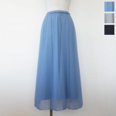 Dignite collier (ディニテコリエ) プリーツ スカート オーガンジー ロング ウエストゴム TK-809534