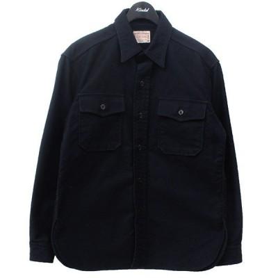 【5月20日値下】BONCOURA モールスキン CPOシャツ ネイビー サイズ:36 (三軒茶屋店)