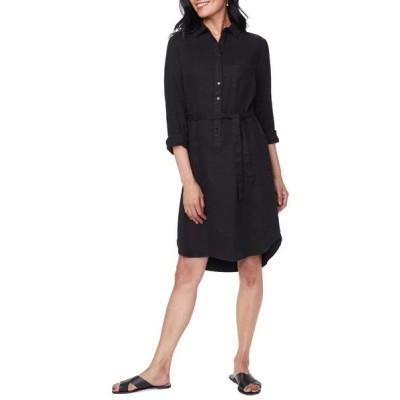 エヌワイディージェイ ワンピース トップス レディース Long Sleeve Shirtdress Black