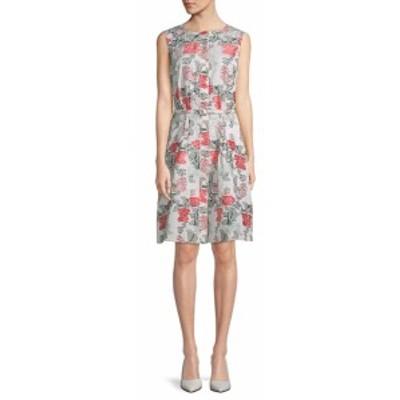 オスカーデラレンタ レディース ワンピース Floral Belted Dress