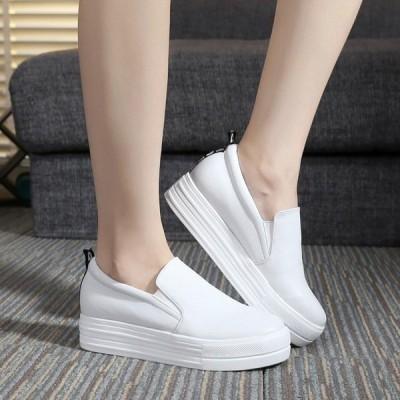 スニーカー厚底スリッポンレディース靴シューズ大きいサイズウォーキングスポーツカジュアルおしゃれ美脚歩きやすいオフィスファッション