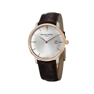 Frederique Constant Men's FC-306V4STZ9 Slim Line Brown Leather Strap Watch