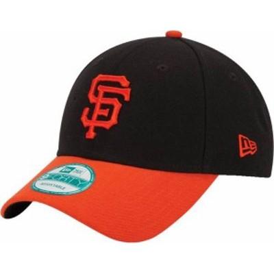 ニューエラ メンズ 帽子 アクセサリー New Era Men's San Francisco Giants 9Forty Black Adjustable Hat