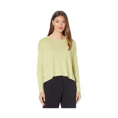 Eileen Fisher アイリーンフィッシャー レディース 女性用 ファッション セーター Organic Linen Delave Round Neck Pullover - Canary