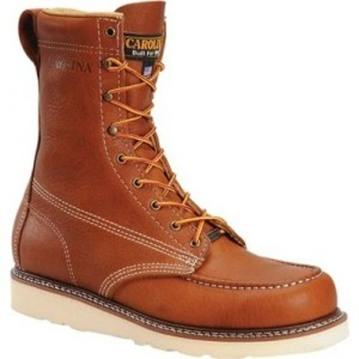 カロリナ Carolina メンズ ブーツ モックトゥ ウェッジソール ワークブーツ シューズ・靴 8 Domestic Steel Moc Toe Wedge Work Boot Dar