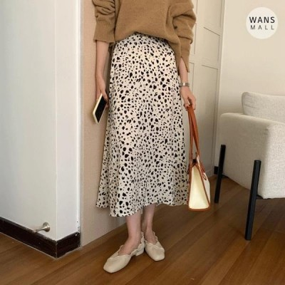 Wansmall レディース スカート sk3729 marge leopard skirt